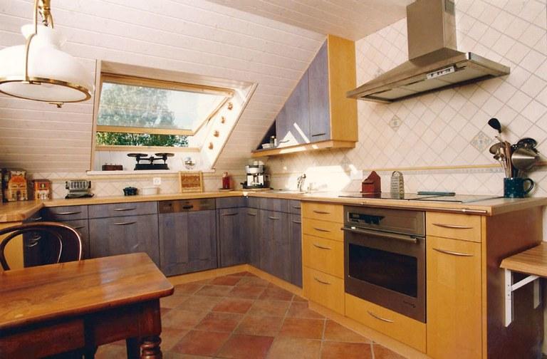 Agencement de cuisine en frêne