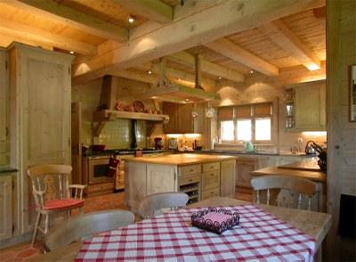 Agencement de cuisine en bois brossé