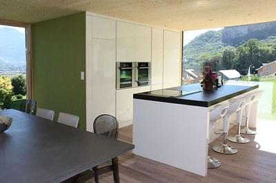 Agencement de cuisine design îlot central