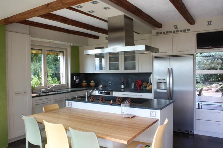Rénovation Agencement de cuisine chêne brossé laqué