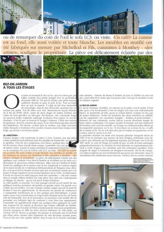 Article espaces contemporains Menuiserie Michellod