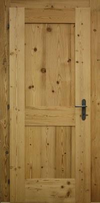Porte communication vieux bois